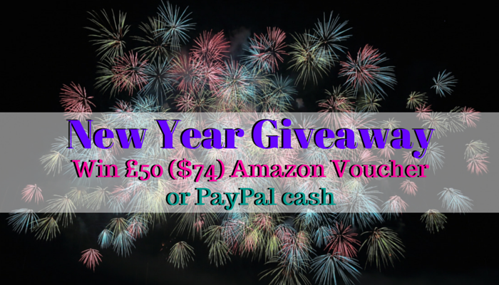 New Year Giveaway – Win £50 ($74) Amazon Voucher or PayPal Cash