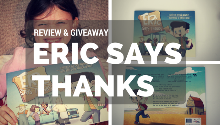 """Eric Says Thanks"" Children's Book Review & Giveaway"