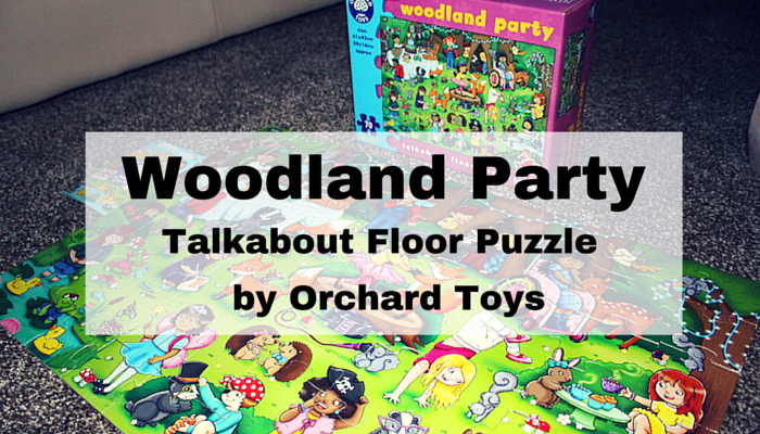 Woodland Party – Talkabout Floor Puzzle by Orchard Toys