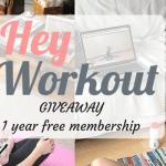 Giveaway: HeyWorkout 1 Year Free Membership