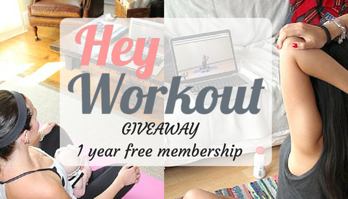 Giveaway: HeyWorkout 1 Year Free Membership