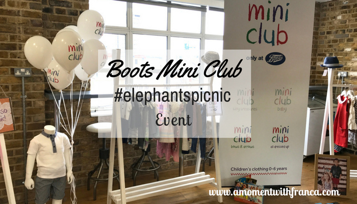 Boots Mini Club #elephantspicnic Event
