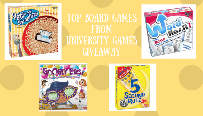 Top Board Games from University Games Giveaway