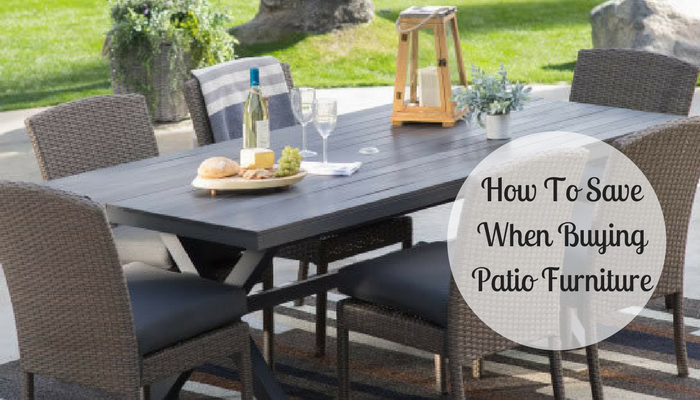 How To Save When Buying Patio Furniture