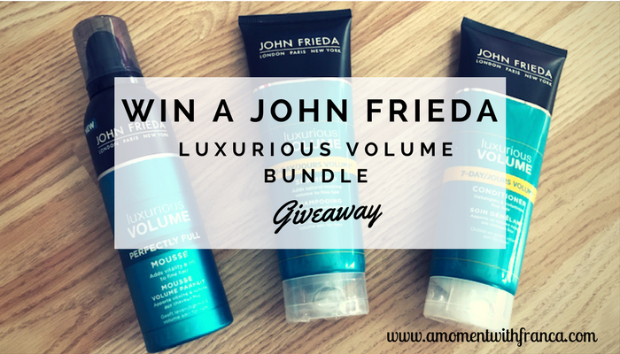 Win A John Frieda Luxurious Volume Bundle