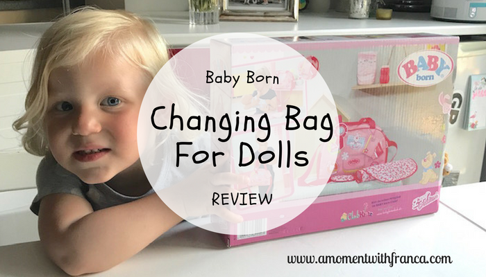 Baby Born Changing Bag For Dolls Review