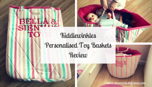 Kiddiewinkles Personalised Toy Baskets Review