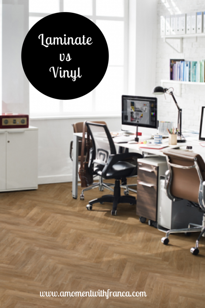 laminate vs vinyl flooring a moment with franca. Black Bedroom Furniture Sets. Home Design Ideas
