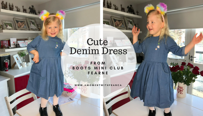 Cute Denim Dress from Boots Mini Club Fearne