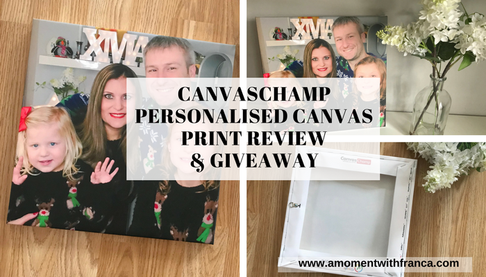 CanvasChamp Personalised Canvas Print Review & Giveaway