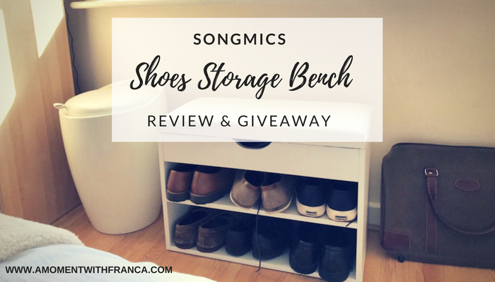 Songmics Shoes Storage Bench Review & Giveaway