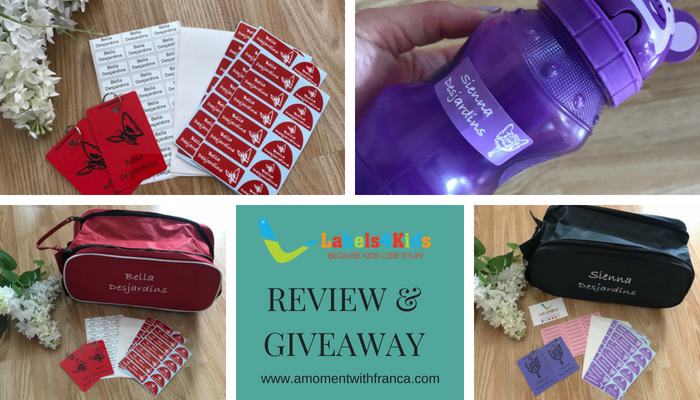Labels4Kids Review & Giveaway