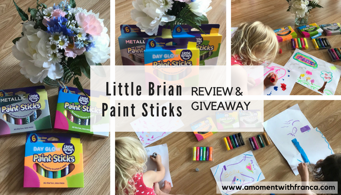 Little Brian Paint Sticks – Review & Giveaway
