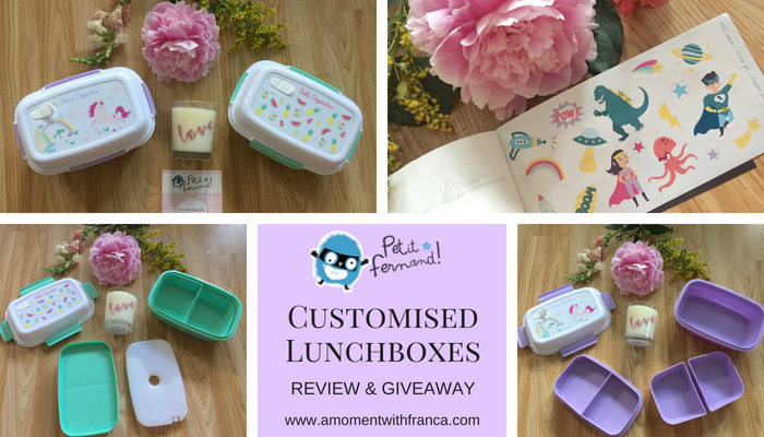 Petit Fernand Customised Lunchboxes Review & Giveaway