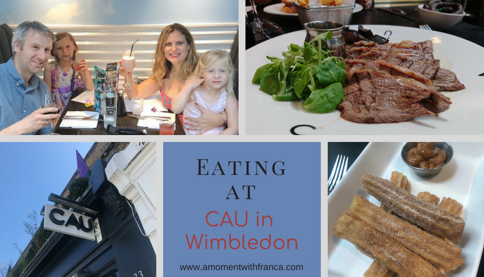Eating at CAU in Wimbledon