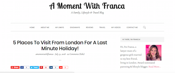 A Moment With Franca  A Family, Lifestyle & Travel Blog