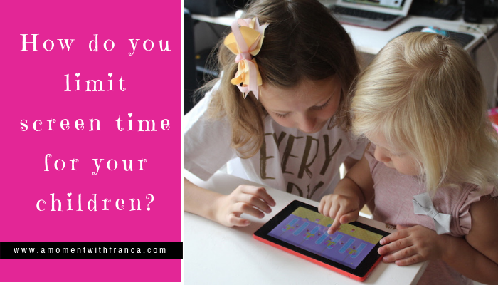 How do you limit screen time for your children?