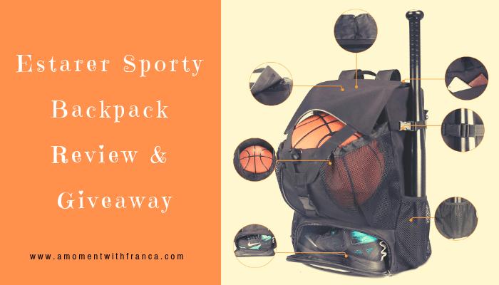 Estarer Sporty Backpack Review & Giveaway
